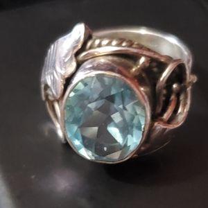 Jewelry - Aquamarine sterling silver
